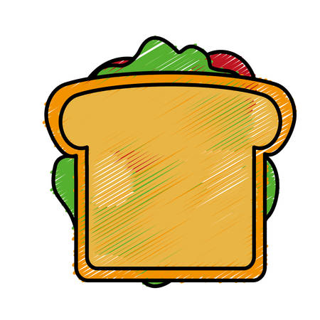 toasted: sandwich icon over white background colorful design vector illustration Illustration