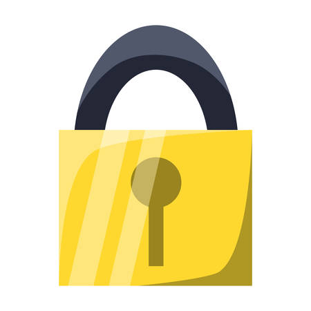 Padlock security device icon vector illustration graphic design