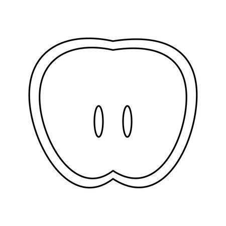 Delicious apple fruit icon vector illustration graphic design Çizim