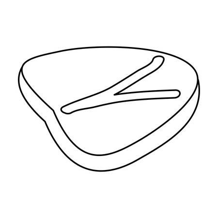 Vlees steak eten pictogram vector illustratie grafisch ontwerp Stock Illustratie