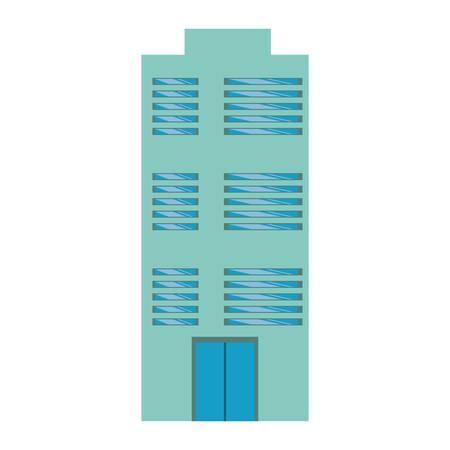 edifice: Urban edifice tower icon vector illustration graphic design