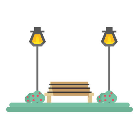 Park scenery view icon vector illustration graphic design