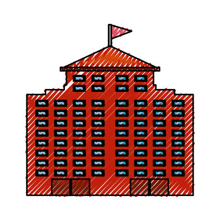 Urban edifice tower icon vector illustration graphic design