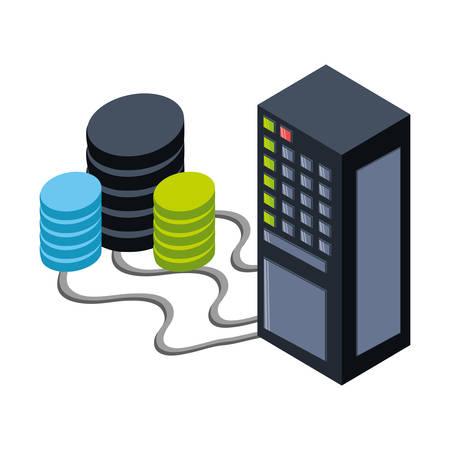 Storage database 3D icon vector illustration graphic design