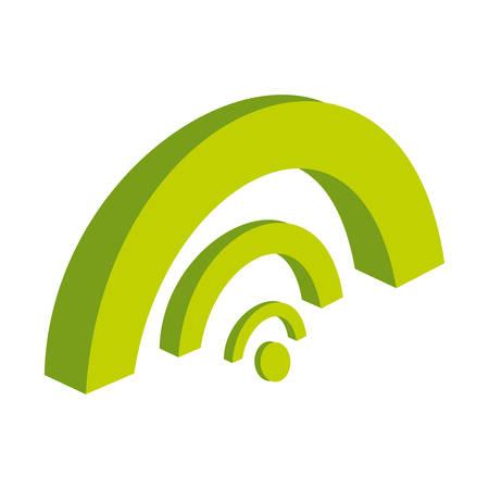 Wifi zone 3D icon vector illustration graphic design Illustration