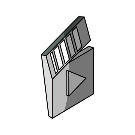 Movie clapboard 3D icon vector illustration graphic design Illustration