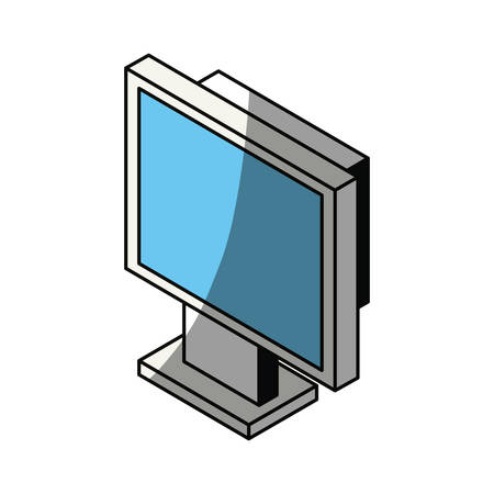 scale: Computer screen 3D icon vector illustration graphic design