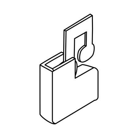 Music file symbol icon vector illustration graphic design