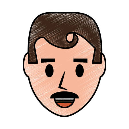 forties: Retro Man cartoon icon vector illustration graphic design Illustration