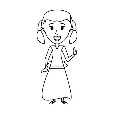 Vintage kid cartoon icon vector illustration graphic design