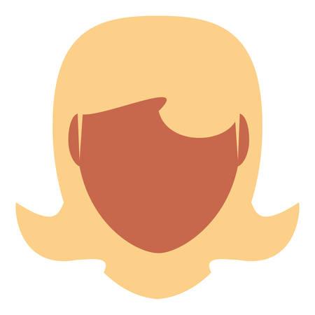 blondie: Retro woman cartoon icon vector illustration graphic design