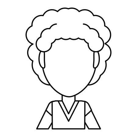 ヴィンテージ子供漫画アイコン ベクトル イラスト グラフィック デザイン