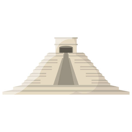 Mayan pyramid monument icon vector illustration graphic design