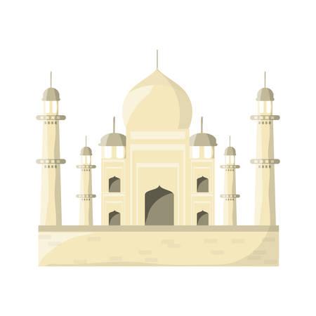 agra: Taj mahal monument icon vector illustration graphic design