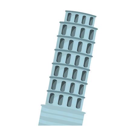 Pisa tower building icon vector illustration graphic design Illustration