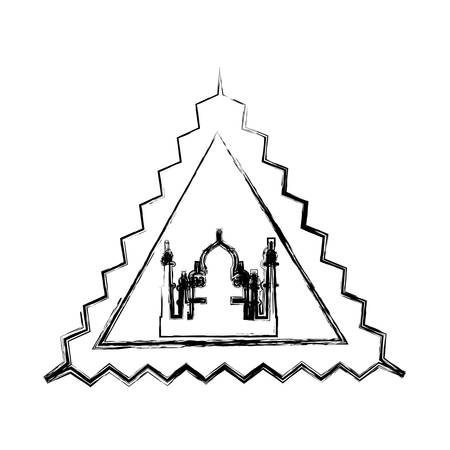 Taj mahal monument icon vector illustration graphic design