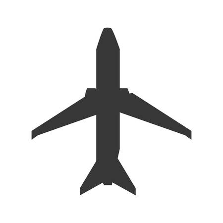 Airplane jet isolated icon vector illustration graphic design Illustration