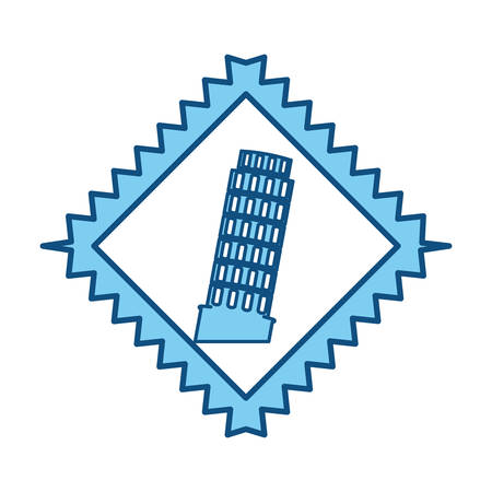leaning tower of pisa: Pisa tower building icon vector illustration graphic design Illustration