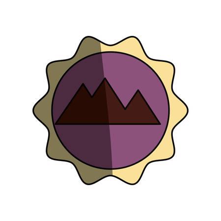 Egyptian pyramids symbol icon vector illustration graphic design