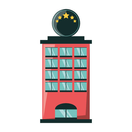 Tower building isolated icon vector illustration graphic design