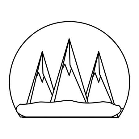 Mountains peaks landscape icon vector illustration graphic design
