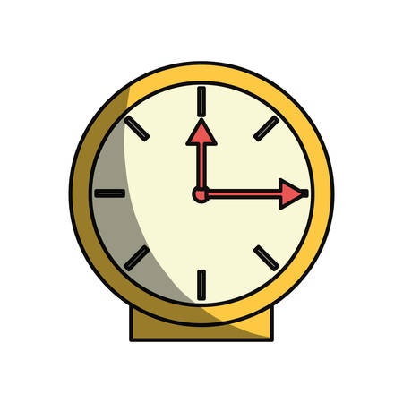 interval: Clock time isolated icon vector illustration graphic design Illustration