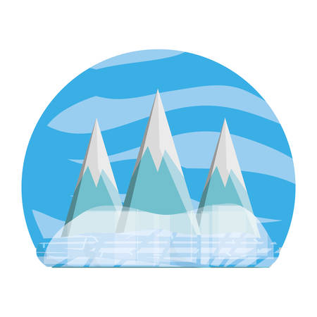 Mountains peaks landscape icon vector illustration graphic design