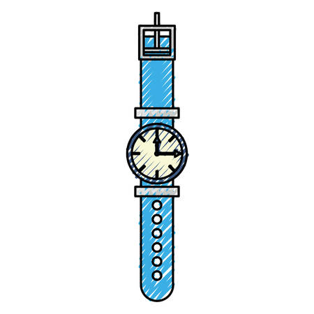 checking: Wristwatch fashion accesory icon vector illustration graphic design