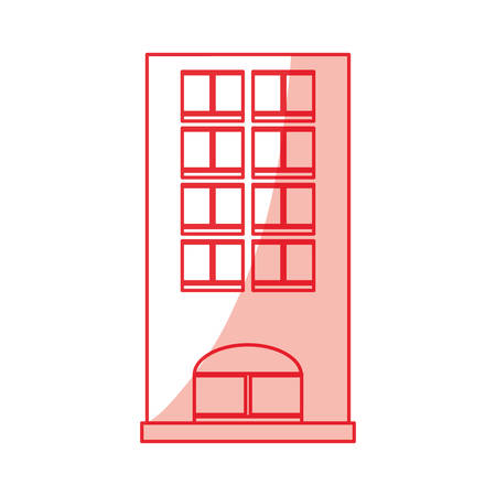 Tower building isolated icon vector  illustration design Illustration