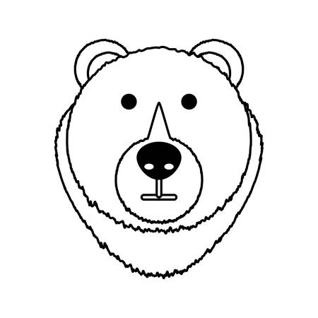Bear cartoon face icon vector illustration graphic design