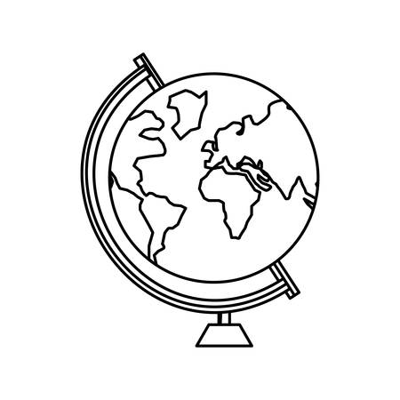 science symbols metaphors: School world globe icon vector illustration graphic design