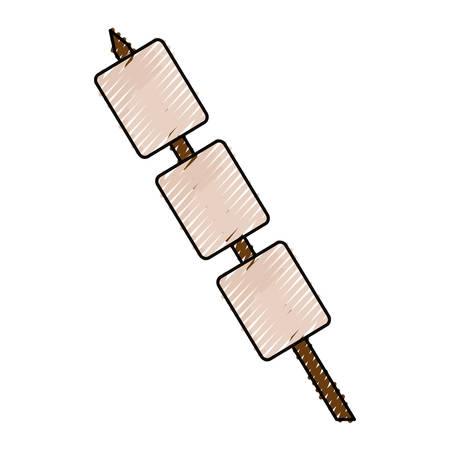 indulgence: Delicious Marshmallows sweet icon vector illustration graphic design