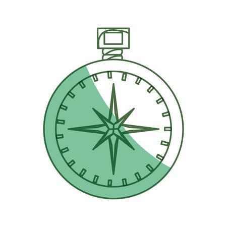 compass rose: Compass travel navigation icon vector illustration graphic design
