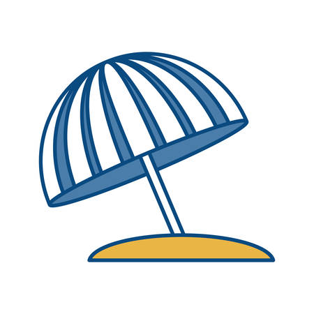 Beach parasol icon over white background vector illustration Illustration