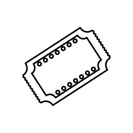 cinema ticket icon over white background vector illustration