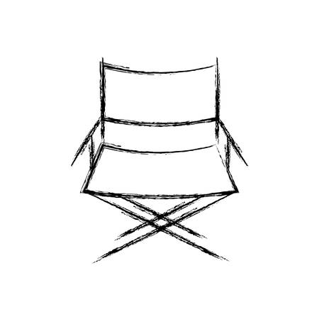 cinema chair icon over white background vector illustration