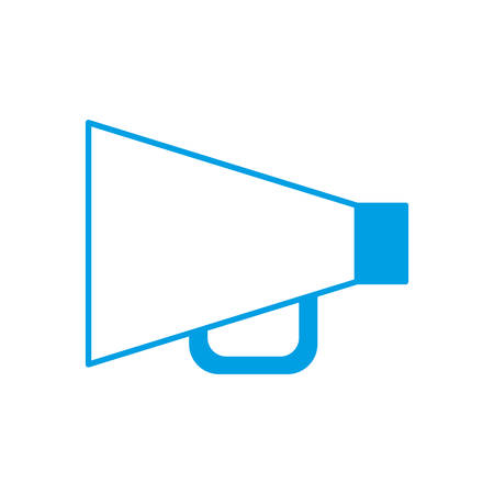 loud speaker: megaphone device icon over white background vector illustration