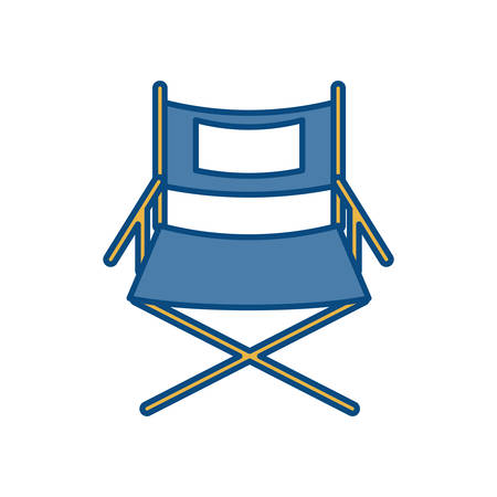 viewing: theatre chair icon over white background vector illustration Illustration