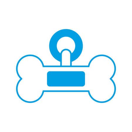 Dog bone icon over white background vector illustration
