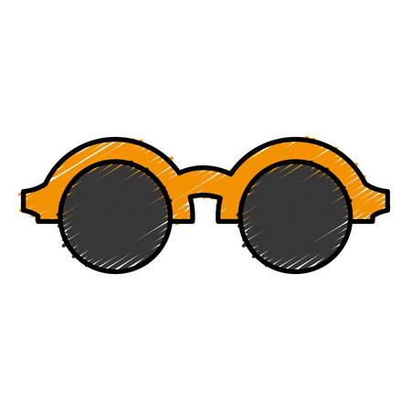 glasses icon over white background vector illustration Illustration