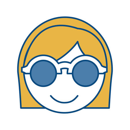 assortment: woman wearing glasses icon over white background vector illustration Illustration