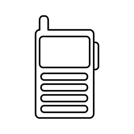 walkie talkie icon over white background vector illustration Çizim