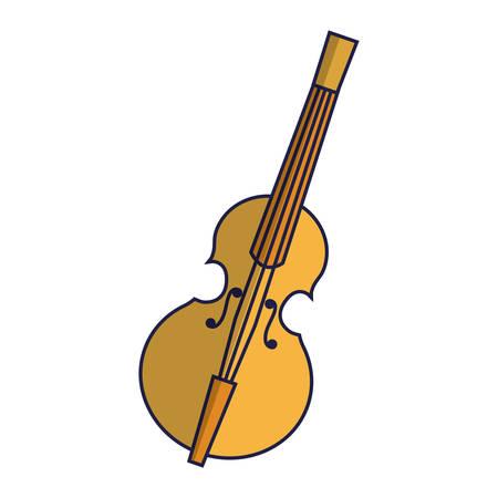 violin icon over white background vector illustration Illustration
