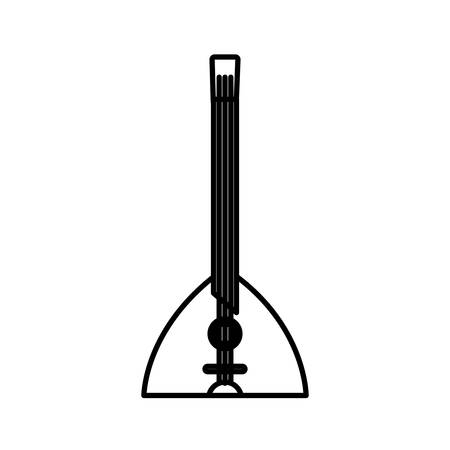 laud instrument icon over white background vector illustration