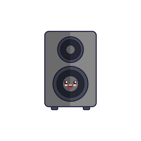 loud speaker: kawaii speaker icon over white background vector illustration Illustration