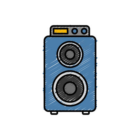 loud speaker: speaker icon over white background vector illustration