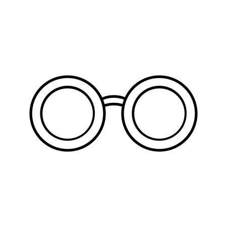 assortment: glasses accessory icon over white background vector illustration