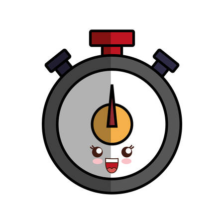 interval: kawaii chronometer icon over white background vector illustration