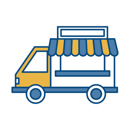 food truck icon over white background vector illustration