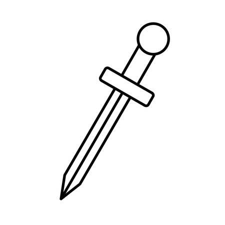 longsword: sword icon over white background vector illustration